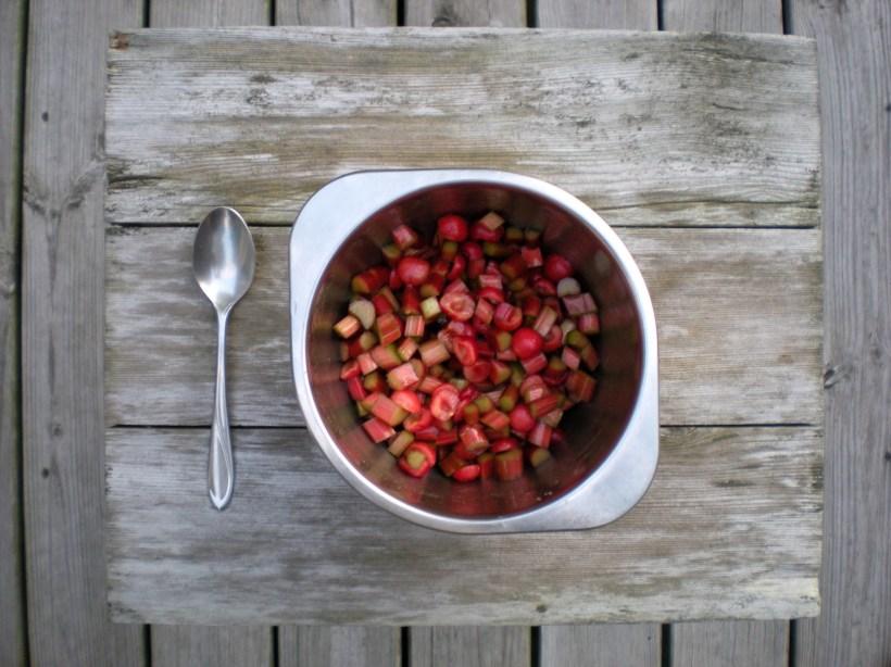 Rhubarb 'n cherries